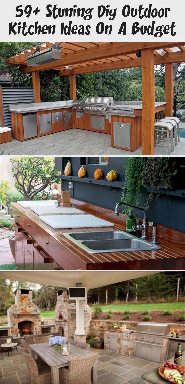 59 Stuning Diy Outdoor Kitchen Ideas On A Budget Home Decor 59 Stuning Diy Outdoor Kit In 2020 Diy Outdoor Kitchen Build Outdoor Kitchen Rustic Outdoor Kitchens