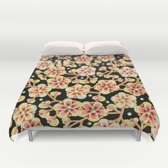 Candy Apple Blossoms Duvet Covers by #PatriciaSheaDesigns on #Soceity6