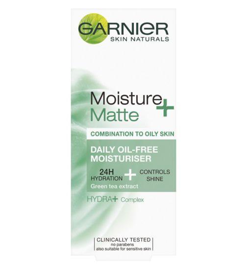 Garnier Skin Naturals Moisture Match Shine Be Gone Mattifying Fresh Cream 50ml Boots Oil Free Moisturizers Daily Oil Moisturizer