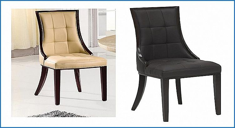 Elegant Leather Keyhole Dining Chairs Dining Chairs Chair