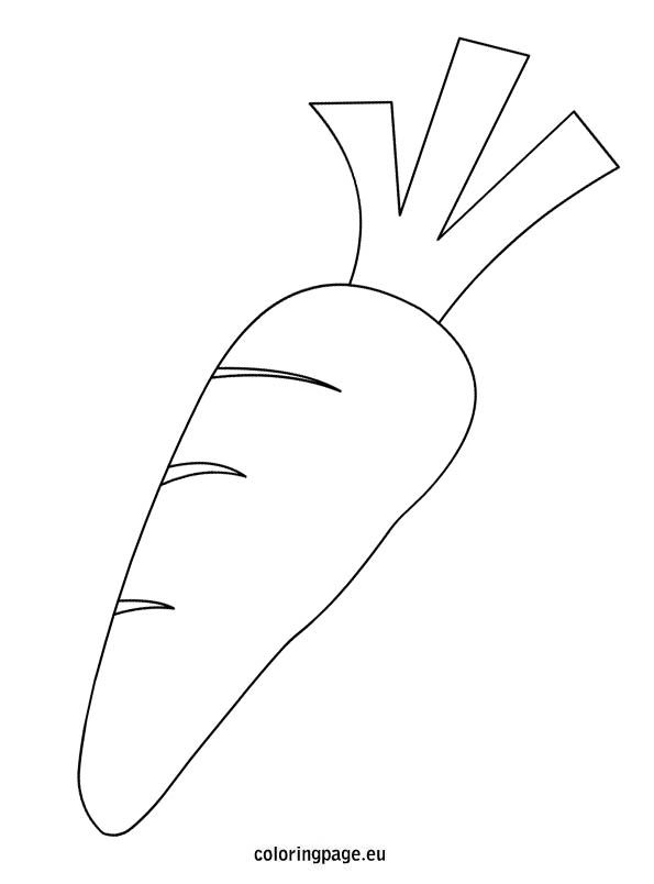 Printable Coloring Pages Of Carrots