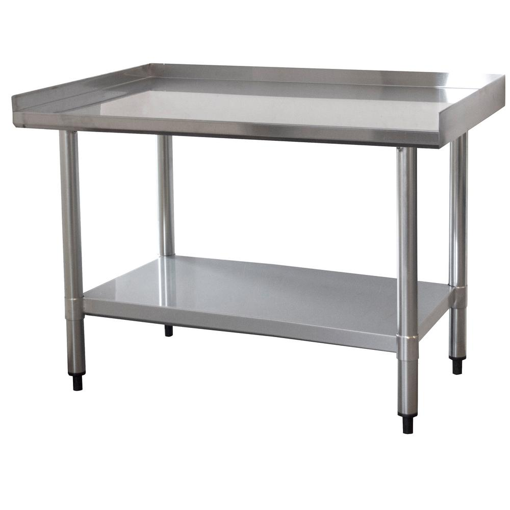 Sportsman 3 Ft X 2 Ft Stainless Steel Worktable With Upturned
