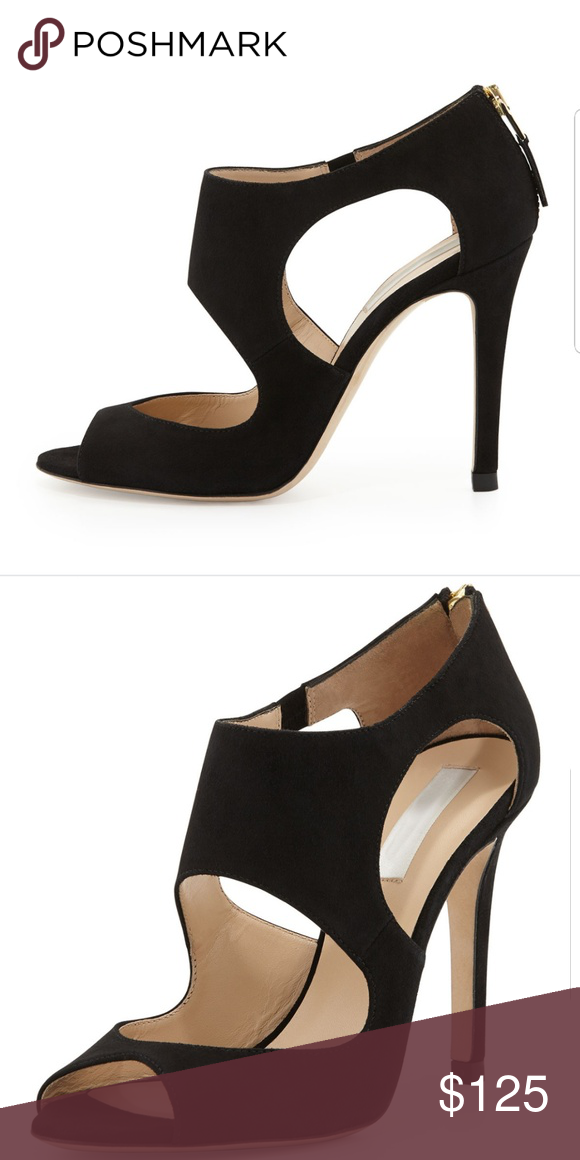 LK Bennett Black suede high heels