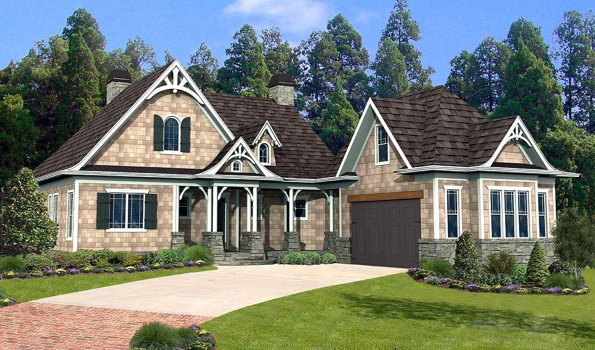Shake Stone and Timber Dream Home Plan