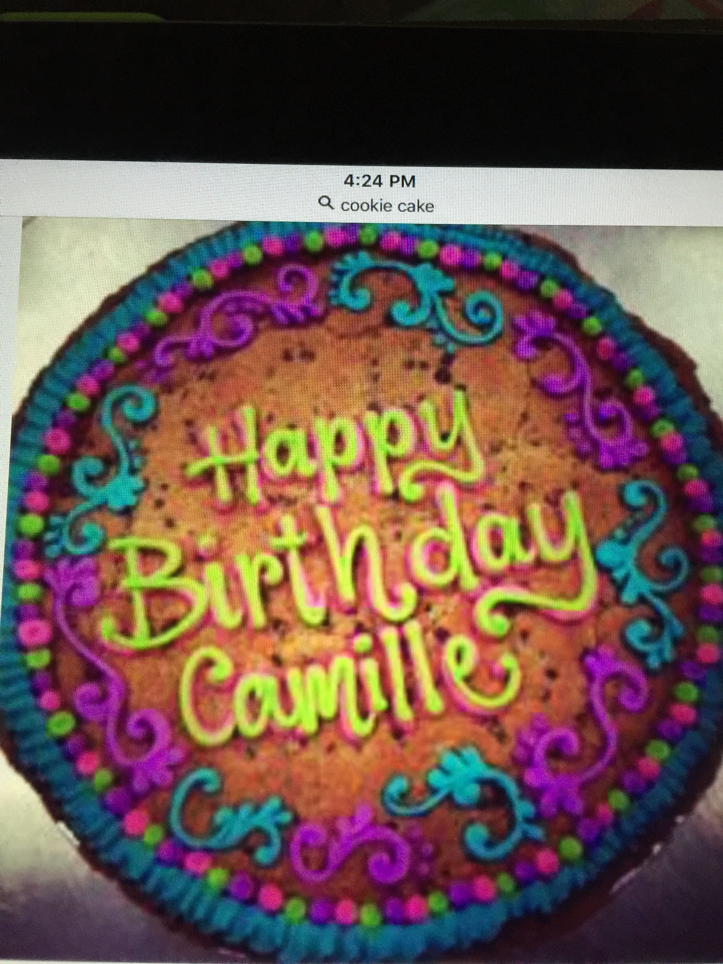 Groovy Giant Chocolate Chip Cookie With Happy Birthday In Buttercream Funny Birthday Cards Online Alyptdamsfinfo