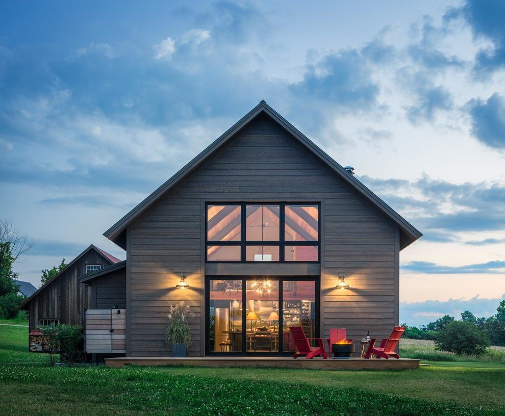 Glass Gable End Farmhouse Exterior Remodeling Ideas with ...