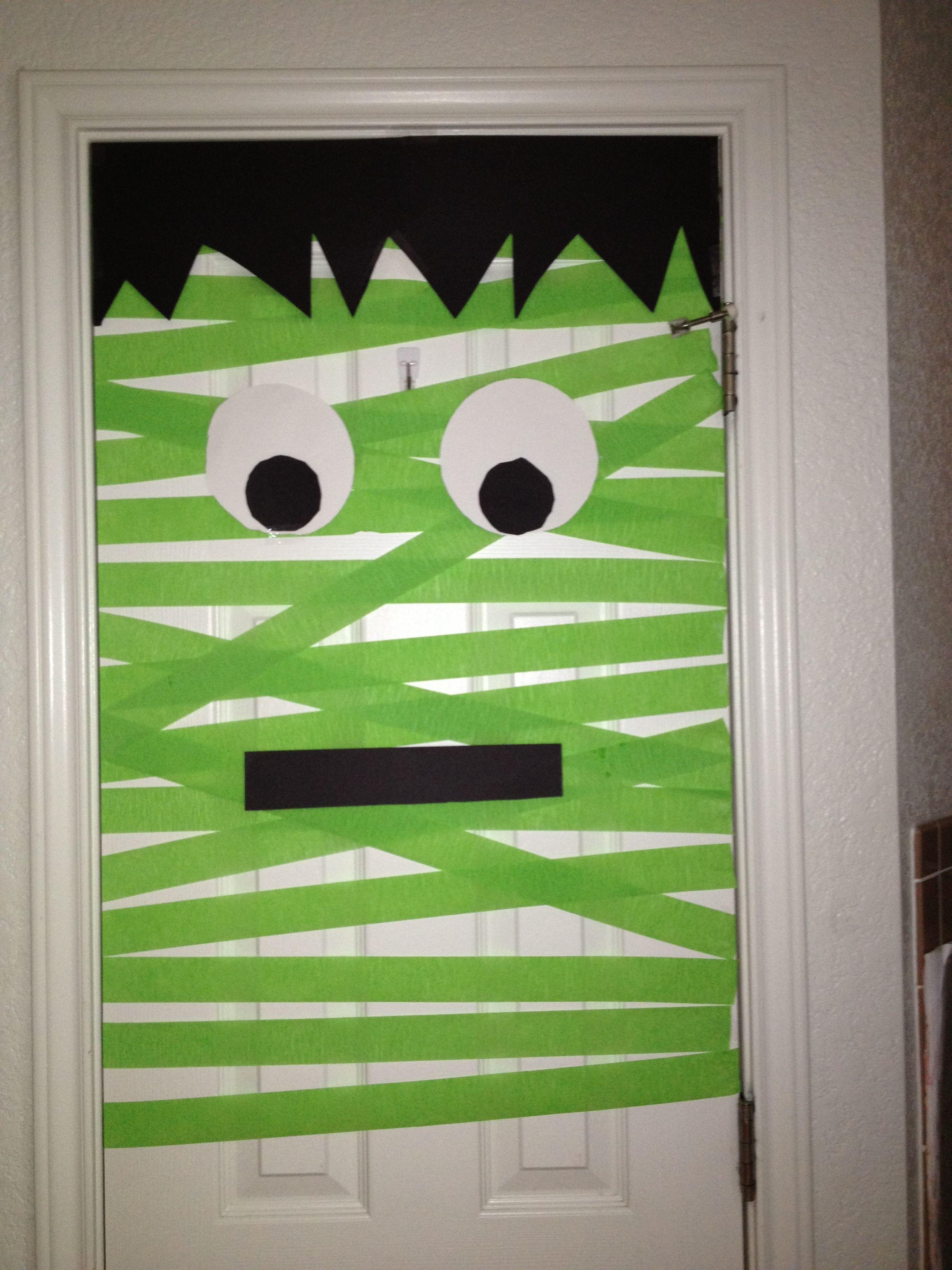 Frankenstein door ) & Frankenstein door :) | Fall Fun | Pinterest | Frankenstein ...
