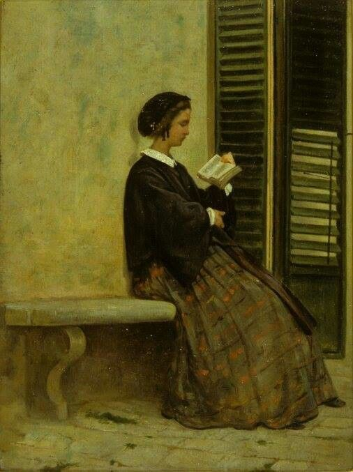"Silvestro Lega (1826-1895)  ""Lettura"" 1864"