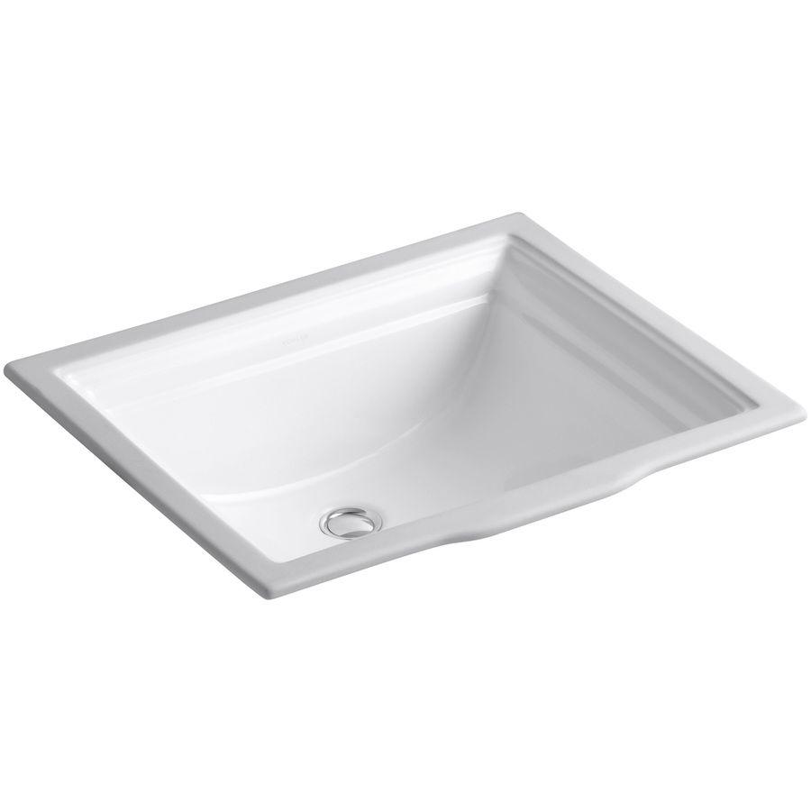 Kohler Memoirs White Undermount Rectangular Bathroom Sink With