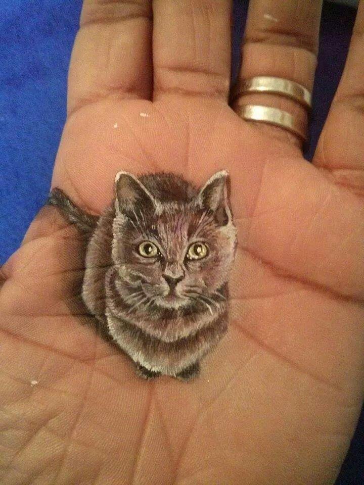 Cat Animal 3d Cute Cat Tattoo Cat Tattoo Designs Black Cat Tattoos
