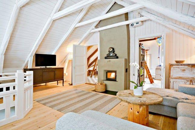 Jurnal de design interior - Amenajări interioare : Rustic scandinav în alb imaculat