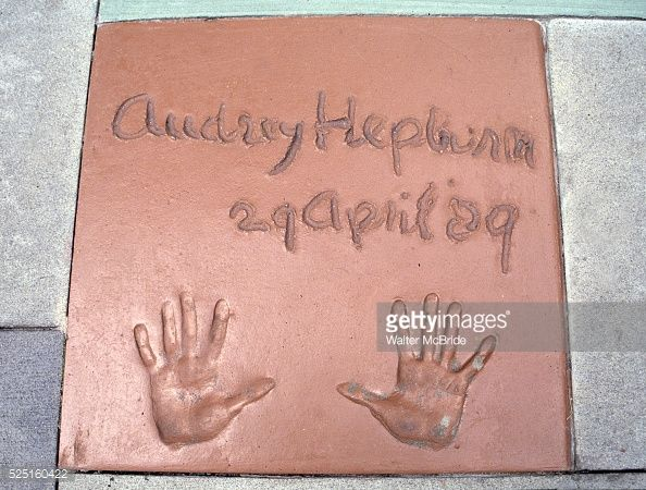 Audrey Hepburn's handprints at Disney MGM in Orlando