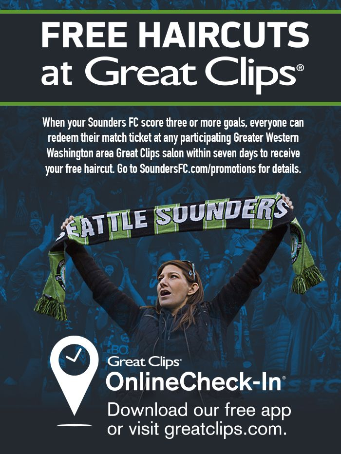 Sounders Fc Great Clips Free Haircut Match Result Mls Clubs