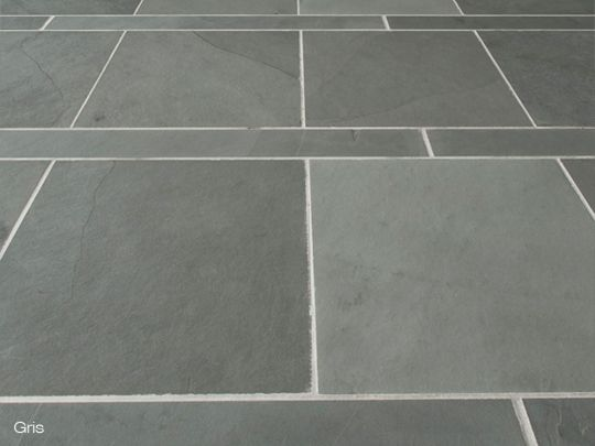 Slate Floor Tiles - Using two sizes of tile gives a strong ...