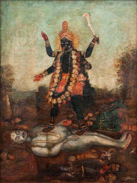 Shiva Chillum Hd Wallpaper Goddess Kali Ma Oil Painting On Canvas From Bengal Date