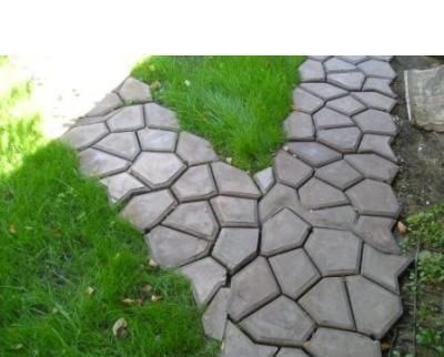 Garden paving plastic mold for garden concrete molds for for Cement garden paths
