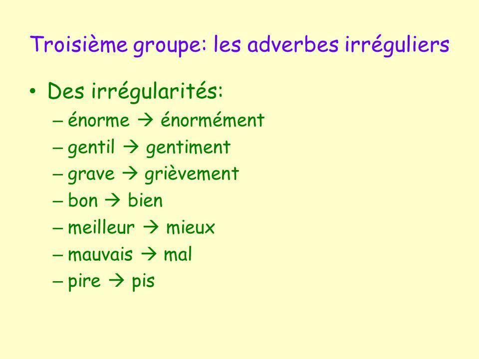Formation des adverbes en ment | Les adverbes, Orthographe ...