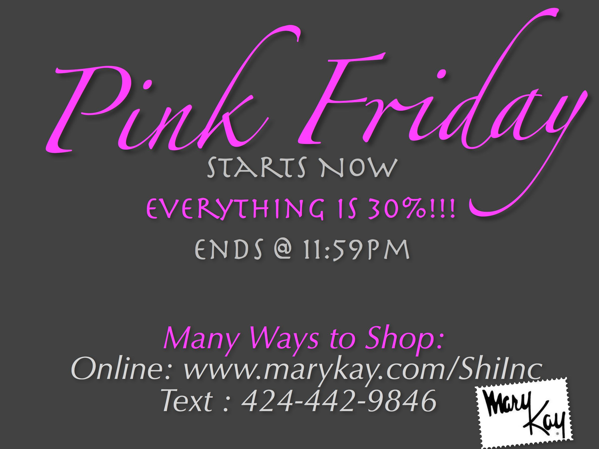 Pink Friday is here!!! Mary kay