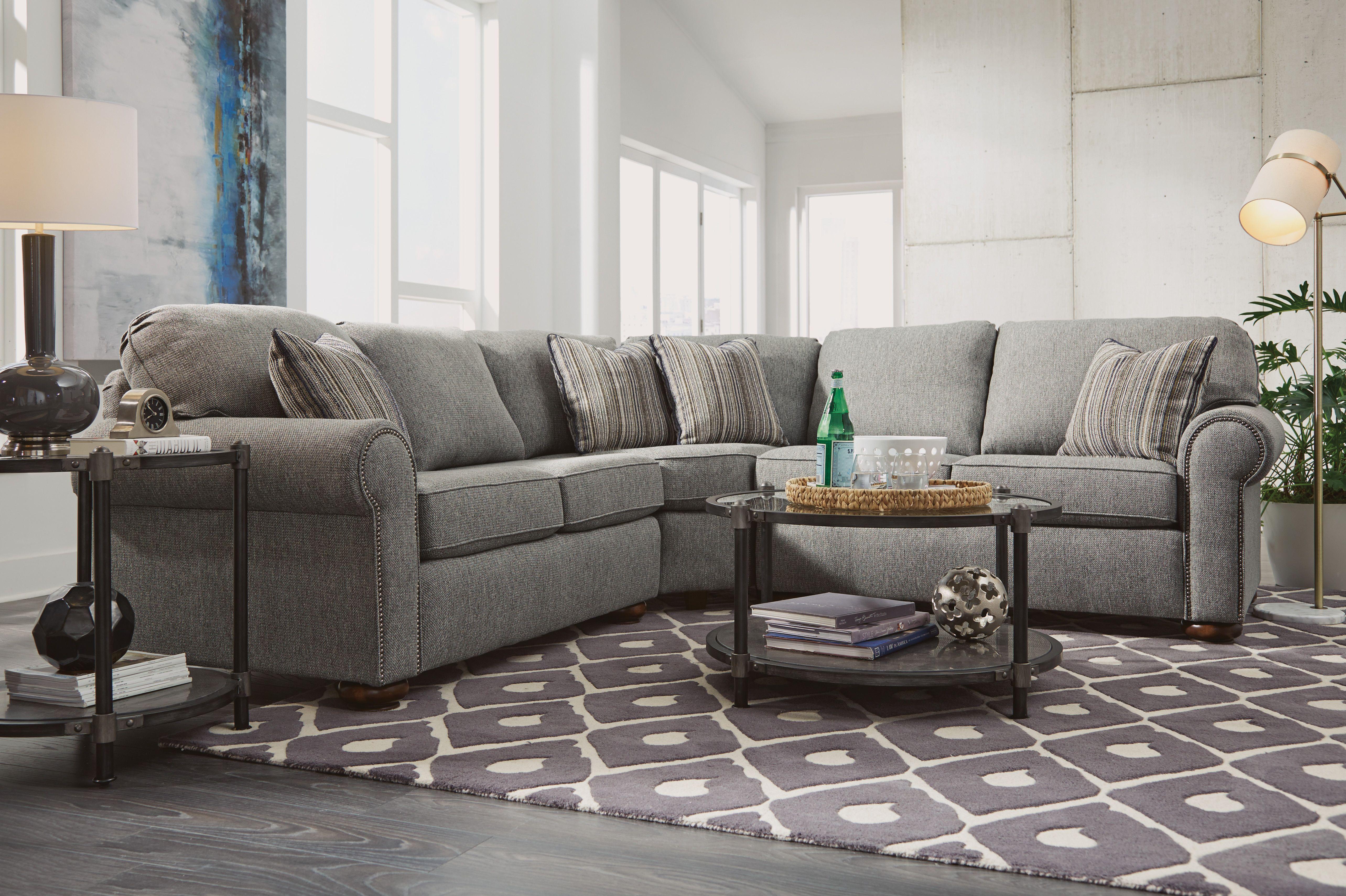 The Preston Sectional By Flexsteel Flexsteel Furniture Is