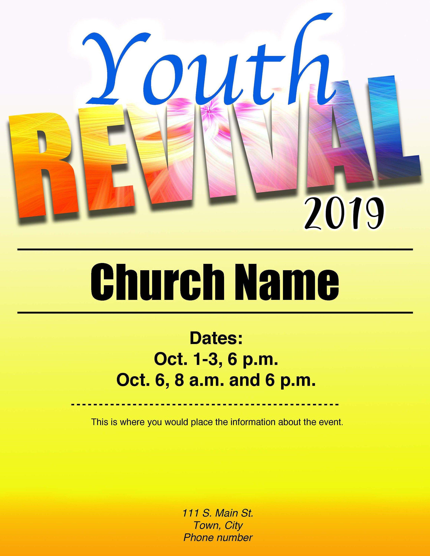2020 Youth Revival Flyer Digital Download 8 5x11 Etsy Flyer Vacation Bible School Bible School