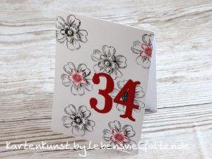 Schnelle, blumige Geburtstagskarte    Schnelle, blumige Geburtstagskarte mit den Produkten von Stampin' Up!      ( Birthday Card , Flower Shop, Whisper White .. )