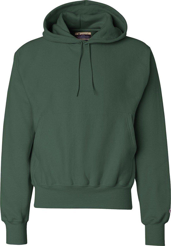 Champion Mens Men Reverse Weave Fleece Pullover Hoodie Dark Green X Large Sweatshirts Fleece Pullover Hooded Sweatshirts [ 1500 x 1045 Pixel ]