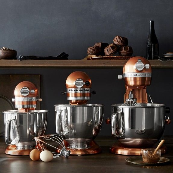 Copper Kitchen Aid Garden Window Kitchenaid Artisan Mini Stand Mixer With Flex Edge Beater Williamssonoma