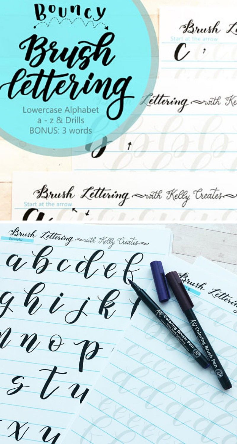 If You Are A Beginner And Want To Learn Bouncy Brush Lettering With A Large Brush Pen Then You Will Love These W Lettering Hand Lettering Fonts Pretty Writing [ 1500 x 800 Pixel ]