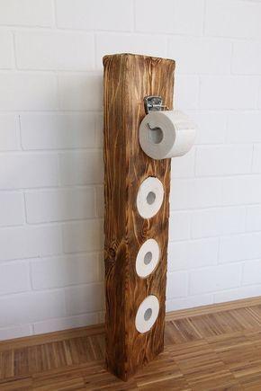 Perfekt Klopapierhalter Aus Massivholz, Schlicht Und Schön #bathroomideas | DIY  VLADI | Pinterest | Pallets, Woods And House