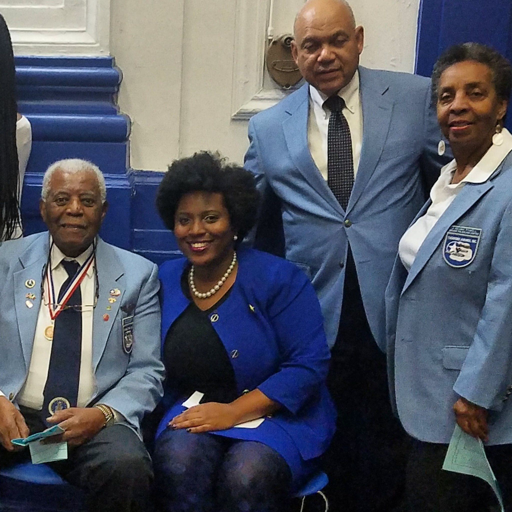 Tuskegee Airmen celebrating students achievement at Hardy Williams High Mastery  Charter School in Philadelphia. The