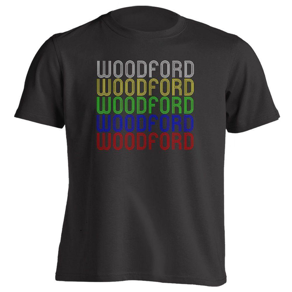 Retro Hometown - Woodford, VA 22580 - Black - Small - Vintage - Unisex - T-Shirt