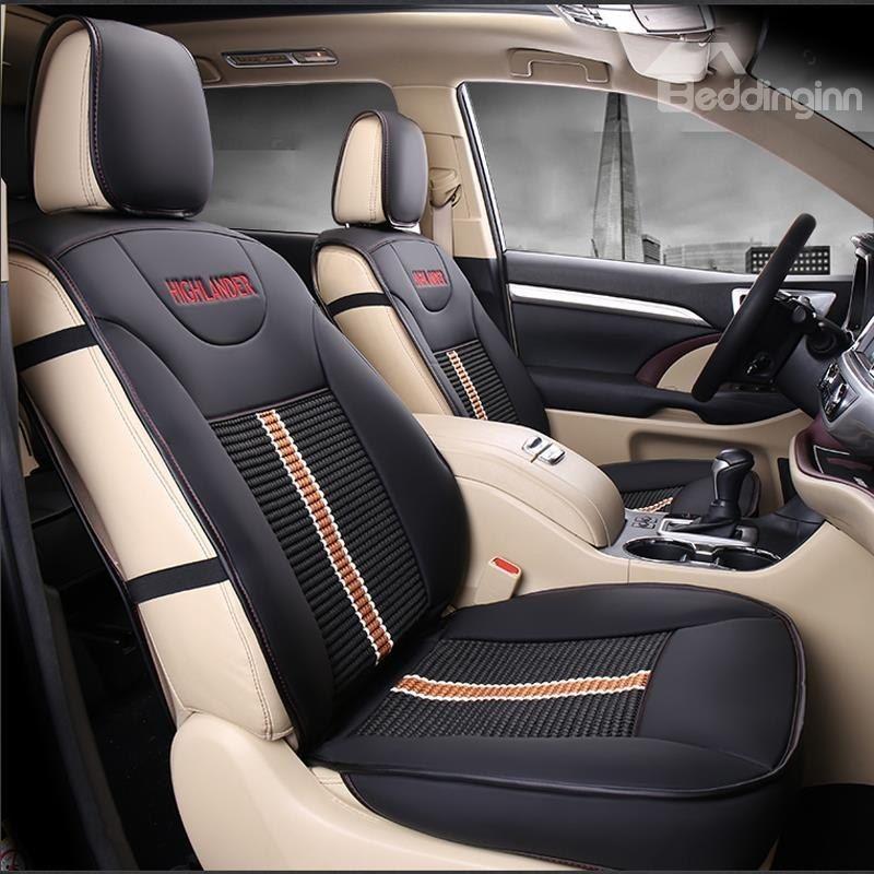 Luxurious High Grade Leather Mixed Knitting 2015 2017 Toyota Highlander Seven Seats Custom Car Seat Covers Custom Car Seat Covers Custom Car Seats Car Seats