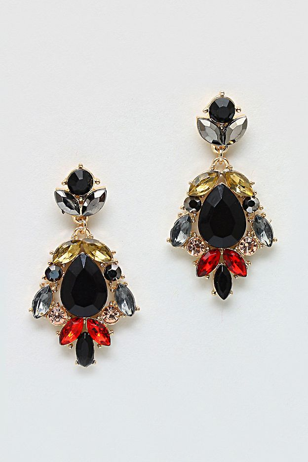 Madeline Chandelier Earrings in Ebony