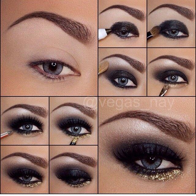 Sexy Black Smokey Eye Tutorial With Gold! #tipit #Beauty #Trusper #Tip. Brown  EyesEyeshadow ...