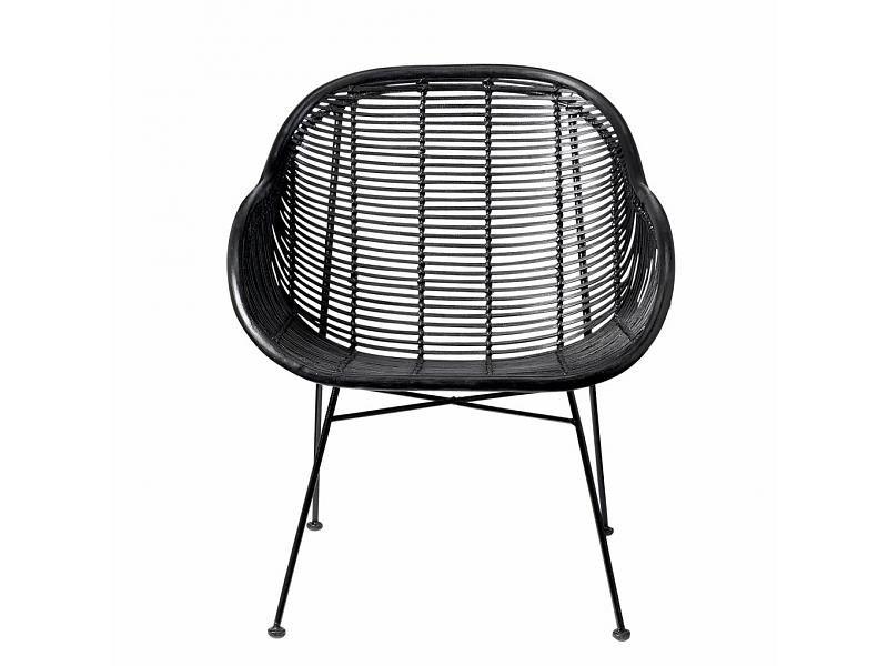 Zwarte Rieten Stoel : Bloomingville rotan stoel zwart woonkamer pinterest rotan