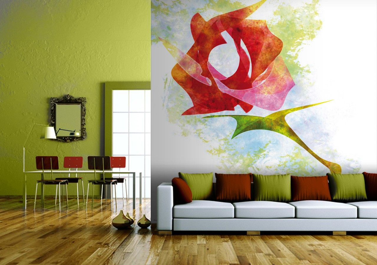 'A rose for you' wallpaper mural by Javier Velasco available at wallpapered.com