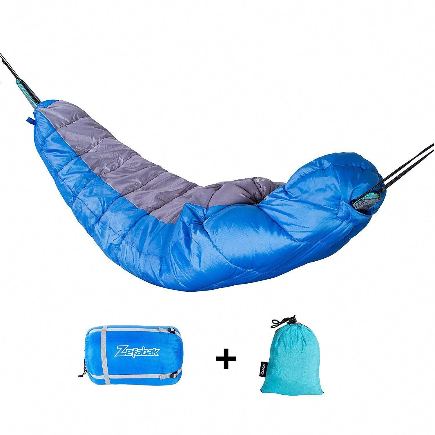 a54ffe168b We think this 2-in-1 Hammock   Single Mummy Sleeping Bag for tent camping  and backpacking makes it easy for the monster spider or bears to eat you.