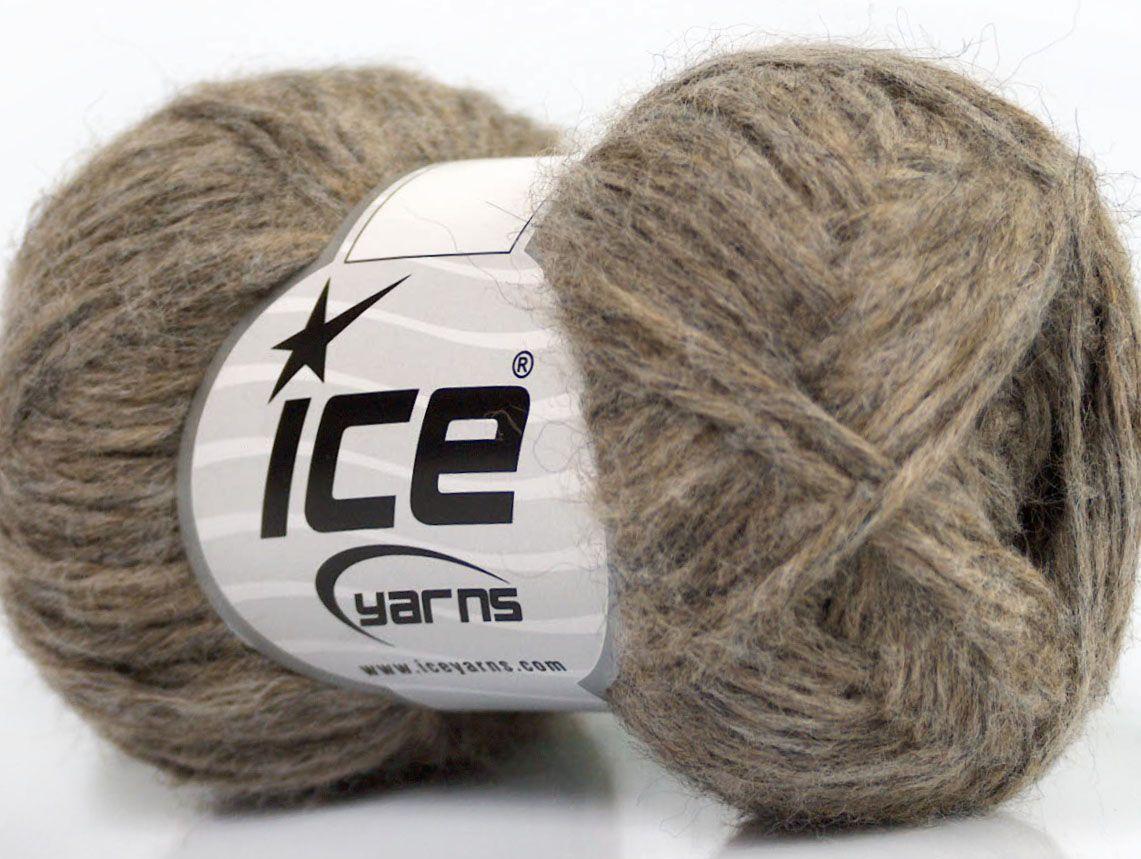 Fiber Content 70% Royal Baby Alpaca 20% Nylon 10% Merino Wool Brand Ice Yarns Beige Melange fnt2-44572