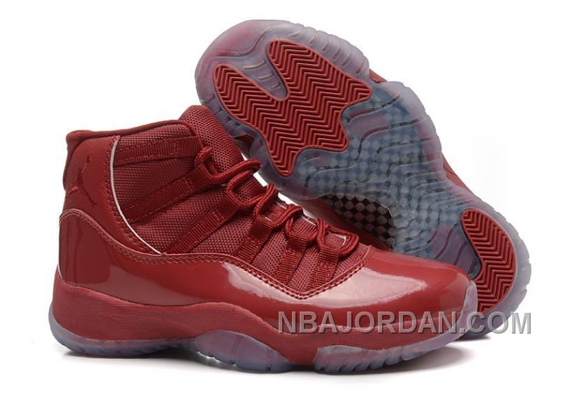 2015 Air Jordan 11 Girls Brown Leather Shoes