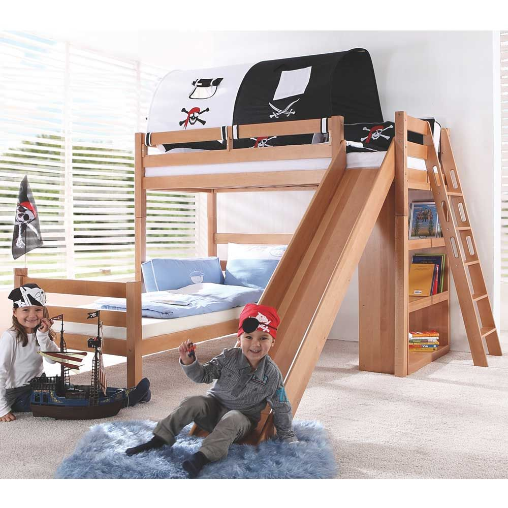 massivholz-etagenbett mit rutsche tÜv-geprüft jetzt bestellen unter