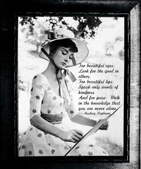 To put on bedroom vanity. Audrey Hepburn Beauty Recipe Photographic ...
