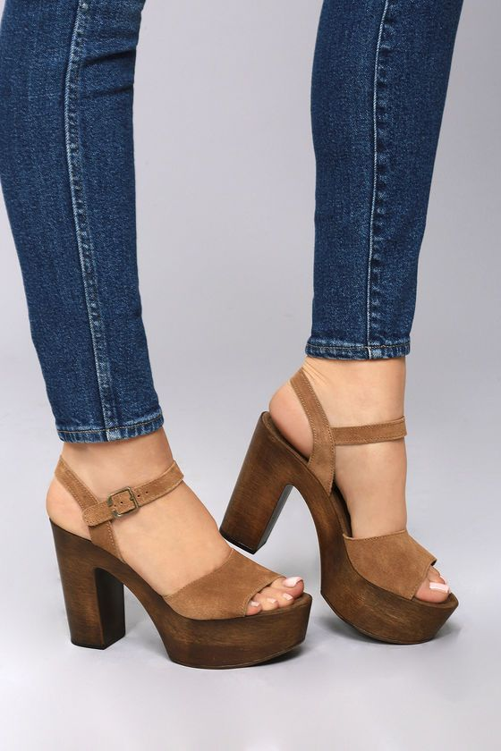842fe01f1d23 Bring on the Boho chic with the Steve Madden Lulla Chestnut Suede Leather  Platform Sandals! These must-have sandals start at a genuine suede peep-toe  upper