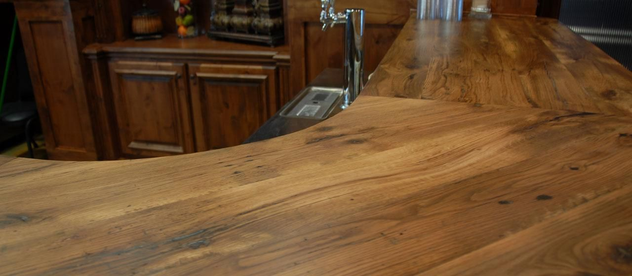 Rustic Wood Bar Top | Reclaimed Antique Wood Counter Tops,Table Tops And Bar  Tops