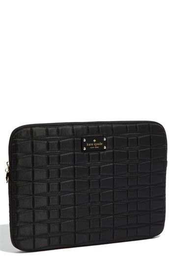 best loved 60385 19ab8 kate spade new york 'signature spade' quilted laptop sleeve ...