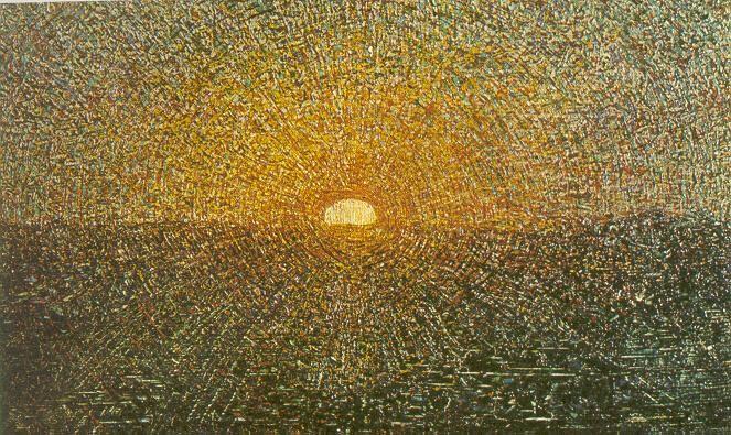 Giuseppe Pellizza da Volpedo - Il sole nascente (bozzetto, 1904)