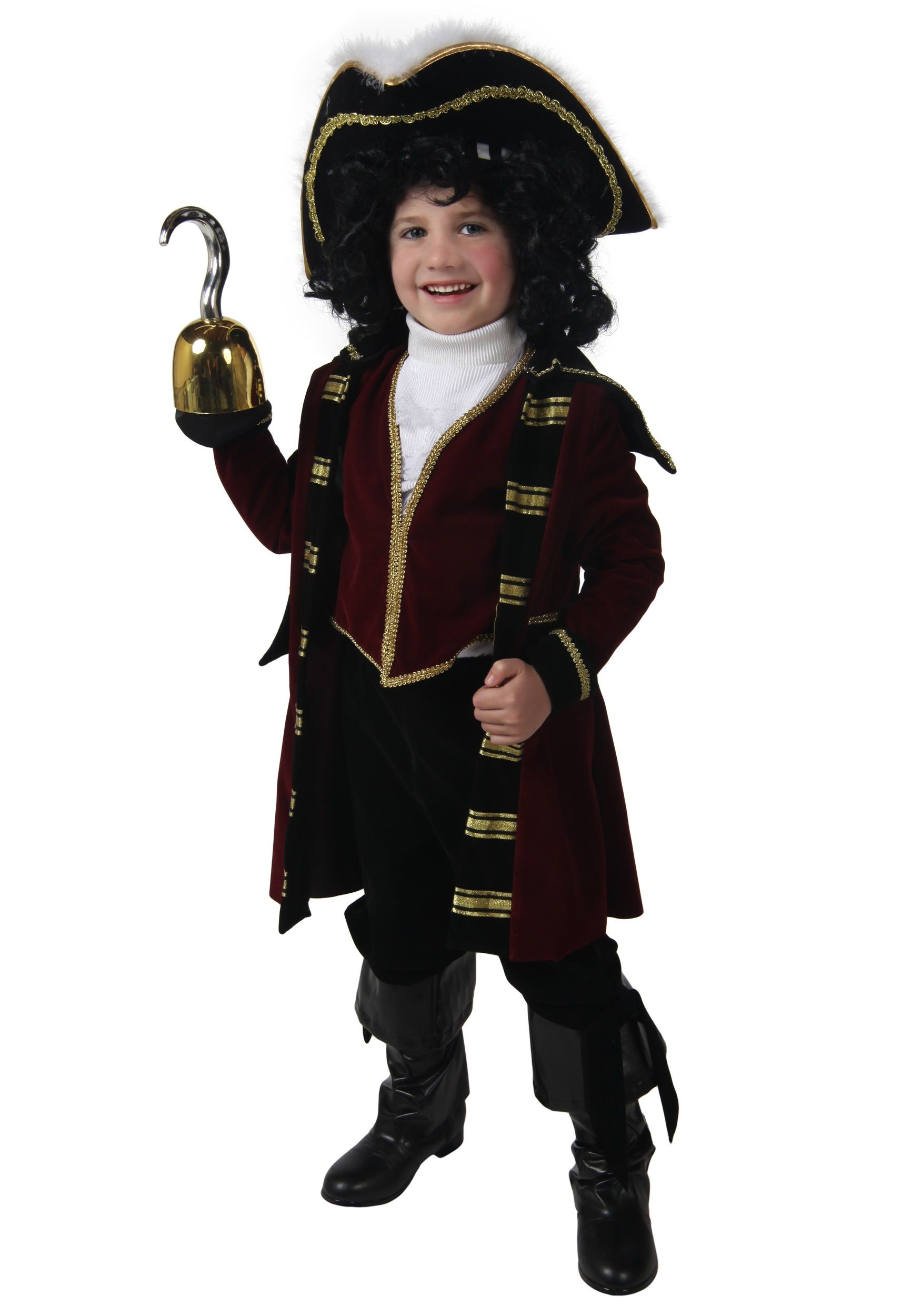 Disney Store Captain Hook Pirate from Peter Pan Costume Suit Toddler Youth Boys