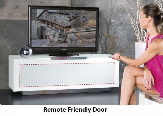Many of our TV stands and units come with remote friendly doors so you can keep your digital boxes hidden away!   www.triskom.co.uk   #TV #home #livingroom #livingroomideas