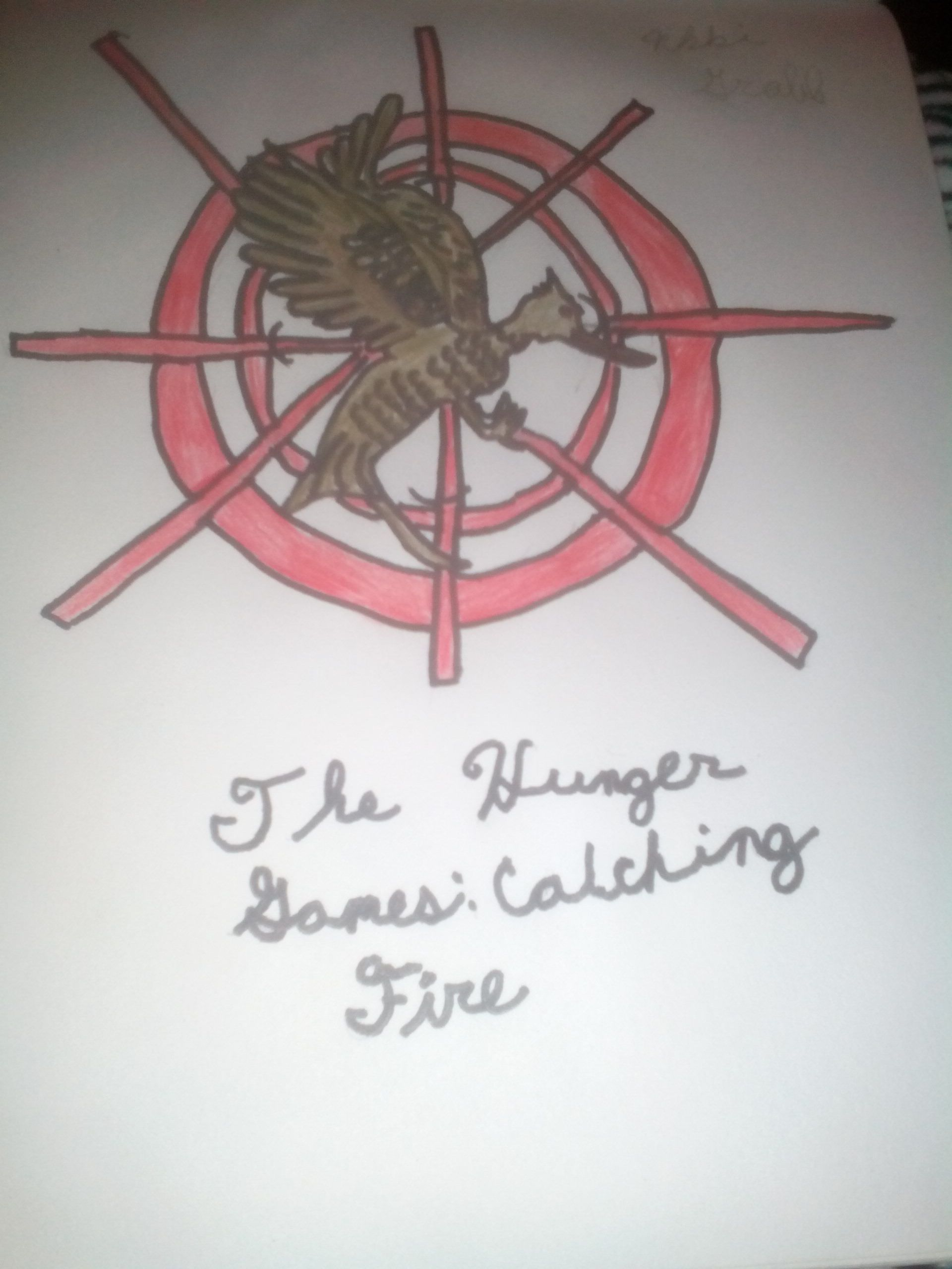 My Drawing Of The The Hunger Games Catching Fire Symbol