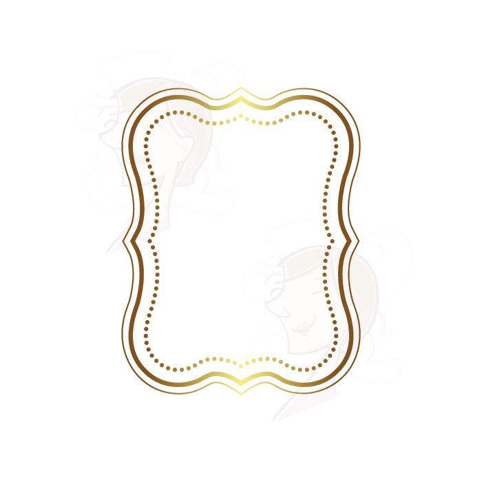 Digital Frames Borders Clipart Frames Gold Label Tag Clip Art ...