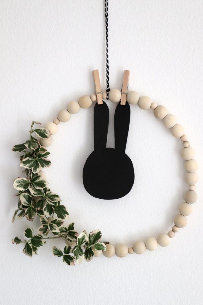 Photo of DIY: Scandi wreath made of wooden balls – Lavender blog #Collars gypsophila DIY: Skandi …